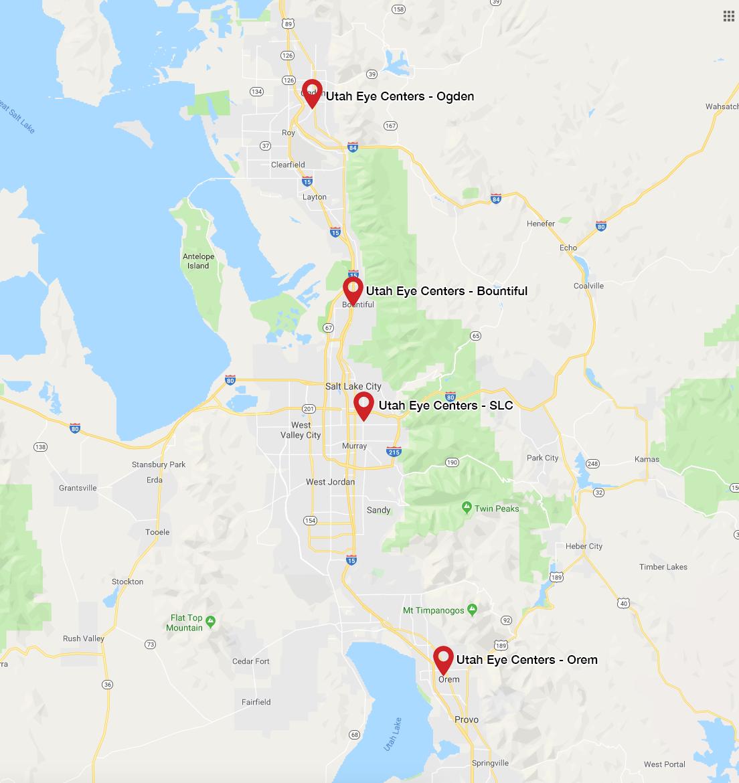 Utah Eye Centers Lcoations Map.png