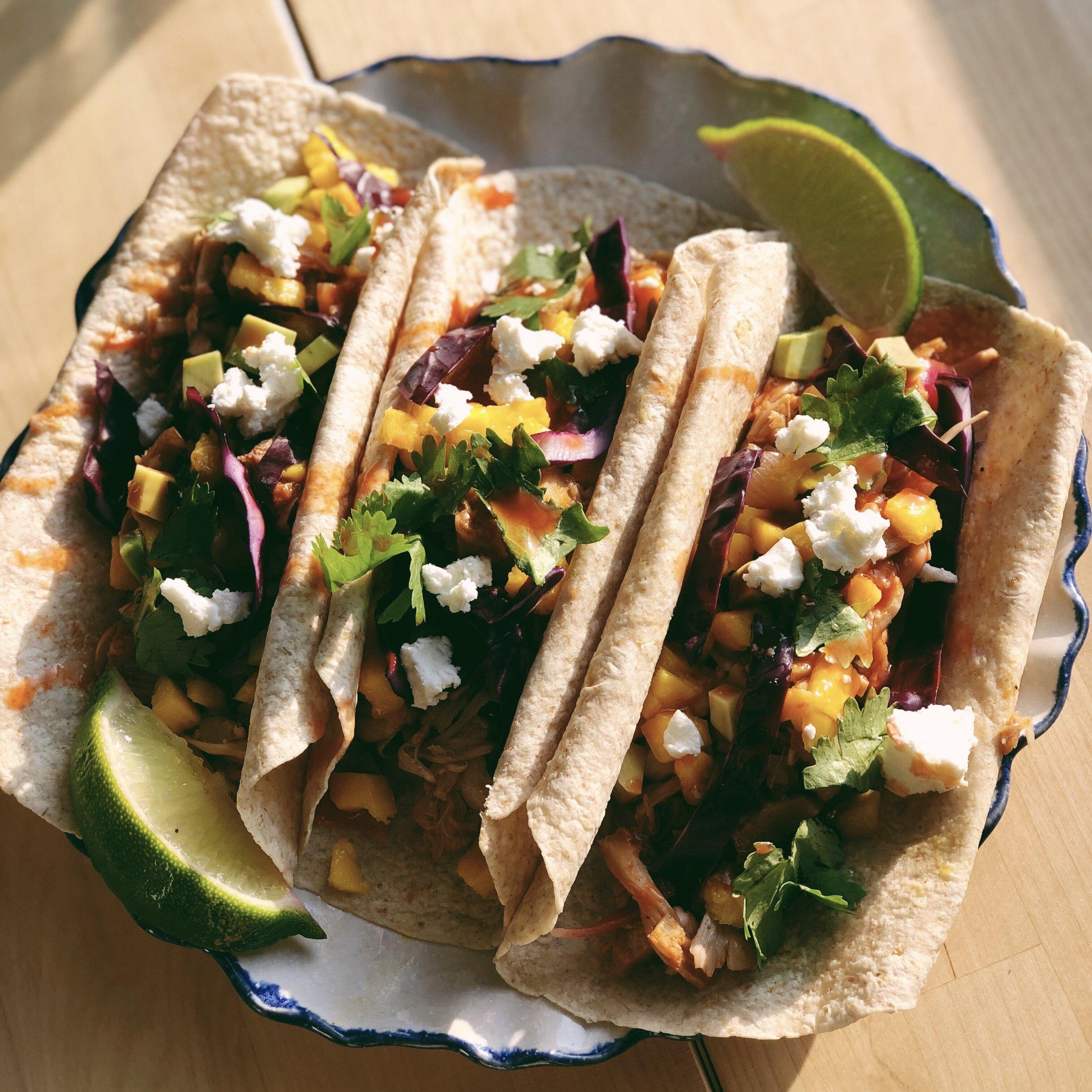 Don't Be a Jerk Jackfruit Tacos