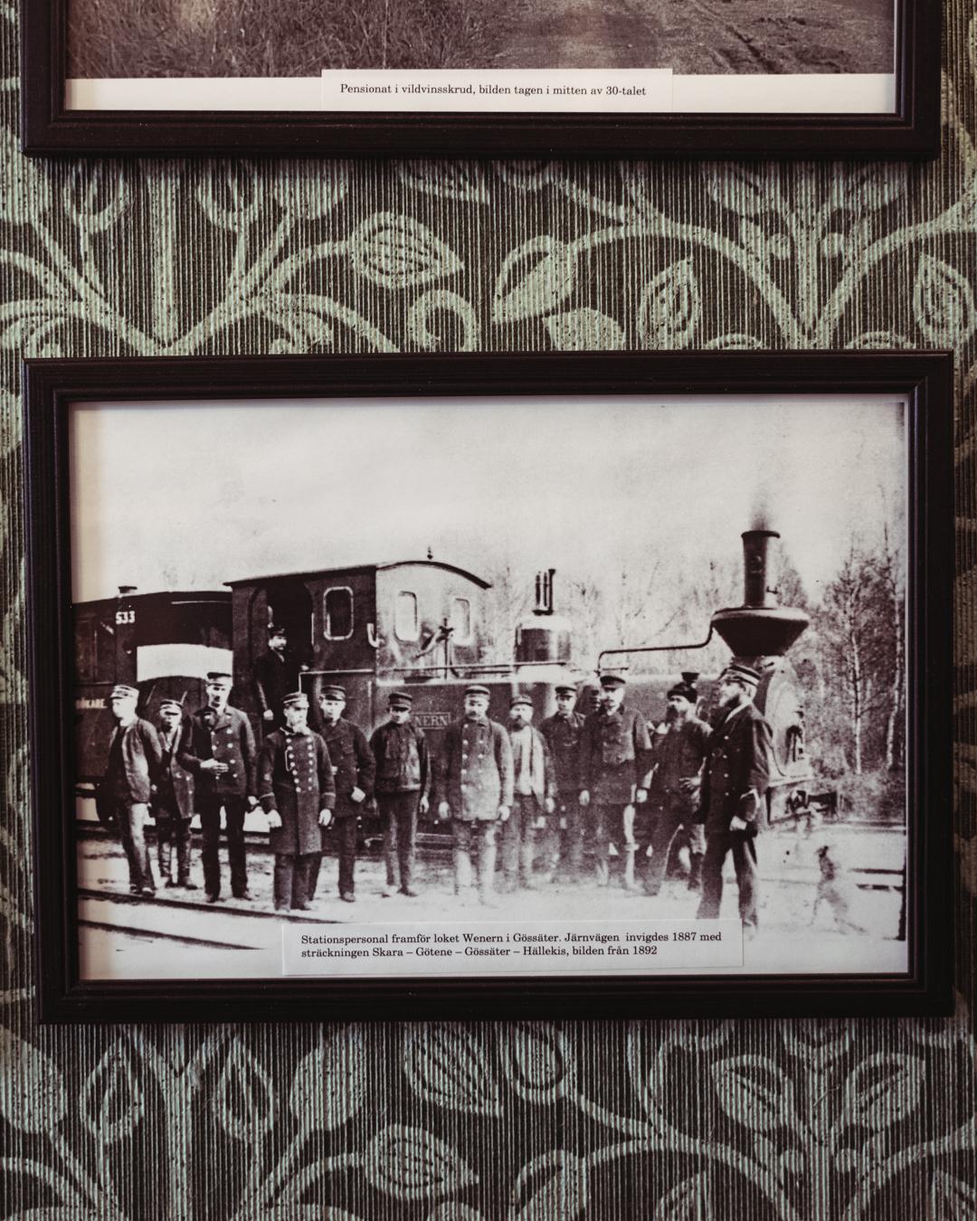 Stationspersonal i Gössäter, 1892.