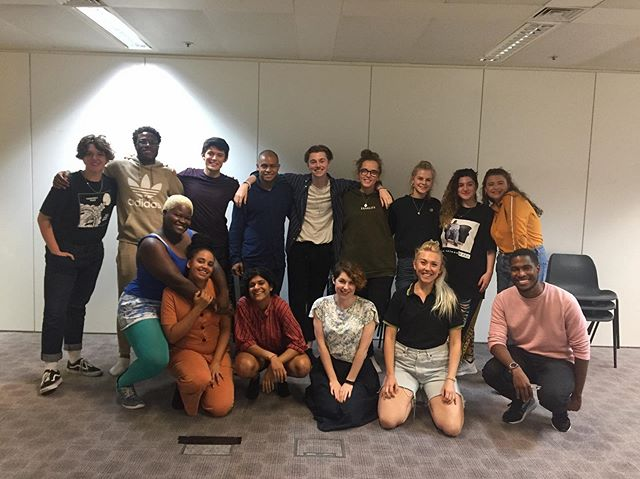 We had the wonderful Steven Kavuma in the room with us today. Our group had a great time exploring the themes of plays, and discussing the director's process 💥
