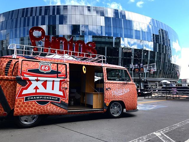 Little bit of fun last week for the Big 12 Basketball tournament! • • It's March madness time here in Kansas City! We'll have this bus parked in front of @sprintcenter for the @big12conference men's basketball championship this weekend. Make sure to come out and get your free photos. • • • #big12 #big12mbb #big12bball #big12championship #bballbus #theoriginalphotobus #theoriginalvwbusphotobooth #thephotobus #thephotobuskc #thephotobuscompany  #kcmo  #kansascity #kansascityphotographer #kansascityphotobooth #thebestphotoboothever  #thephotobuskc #theoriginalvwphotobooth #photobooth #vwphotobooth #vintagephotobooth #mobilephotobooth #kansascityphotobooth #kcphotobooth #thephotobus #bestphotoboothever #photobus #photoboothbus #kc #classicphotobooth #traditionalphotobooth