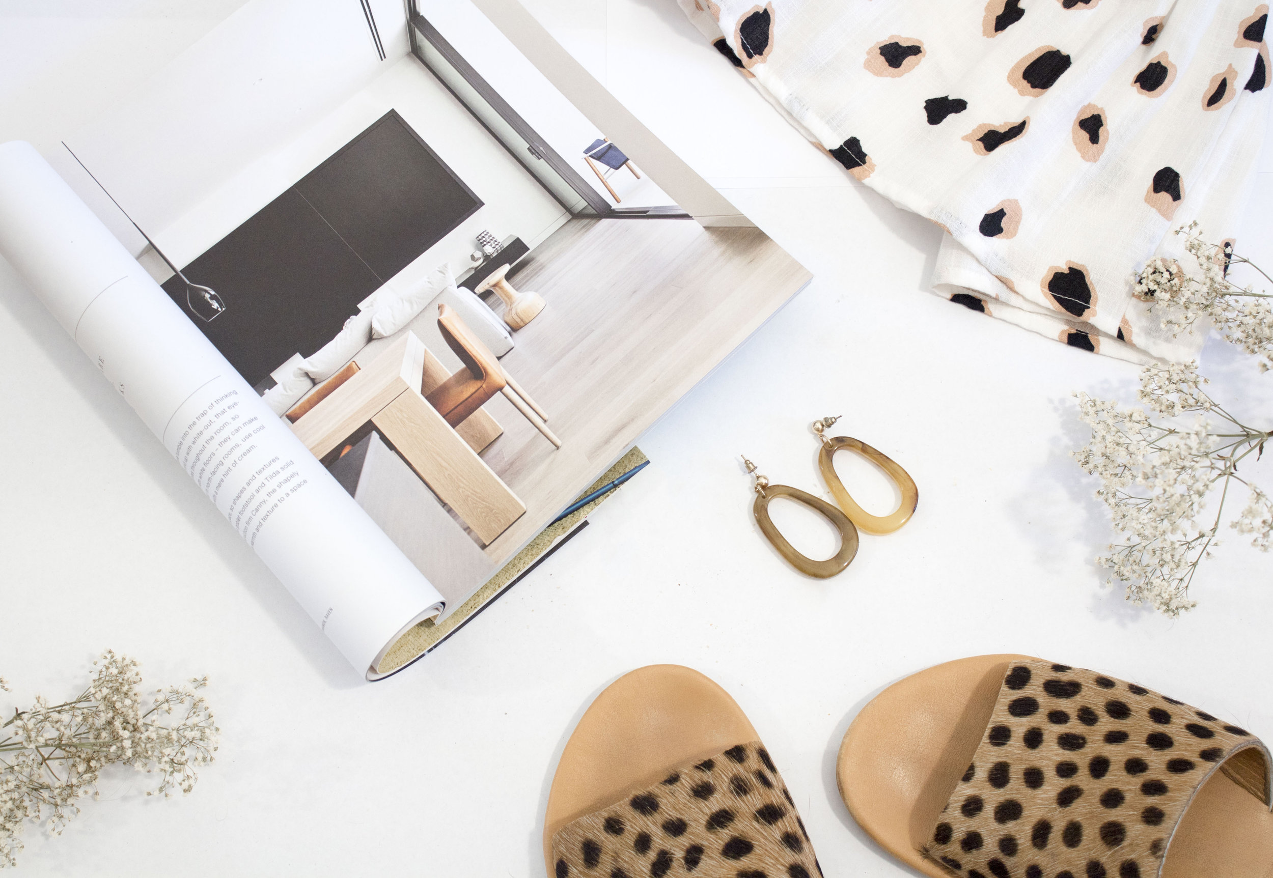 Leopard print adds some exciting to simplicity.