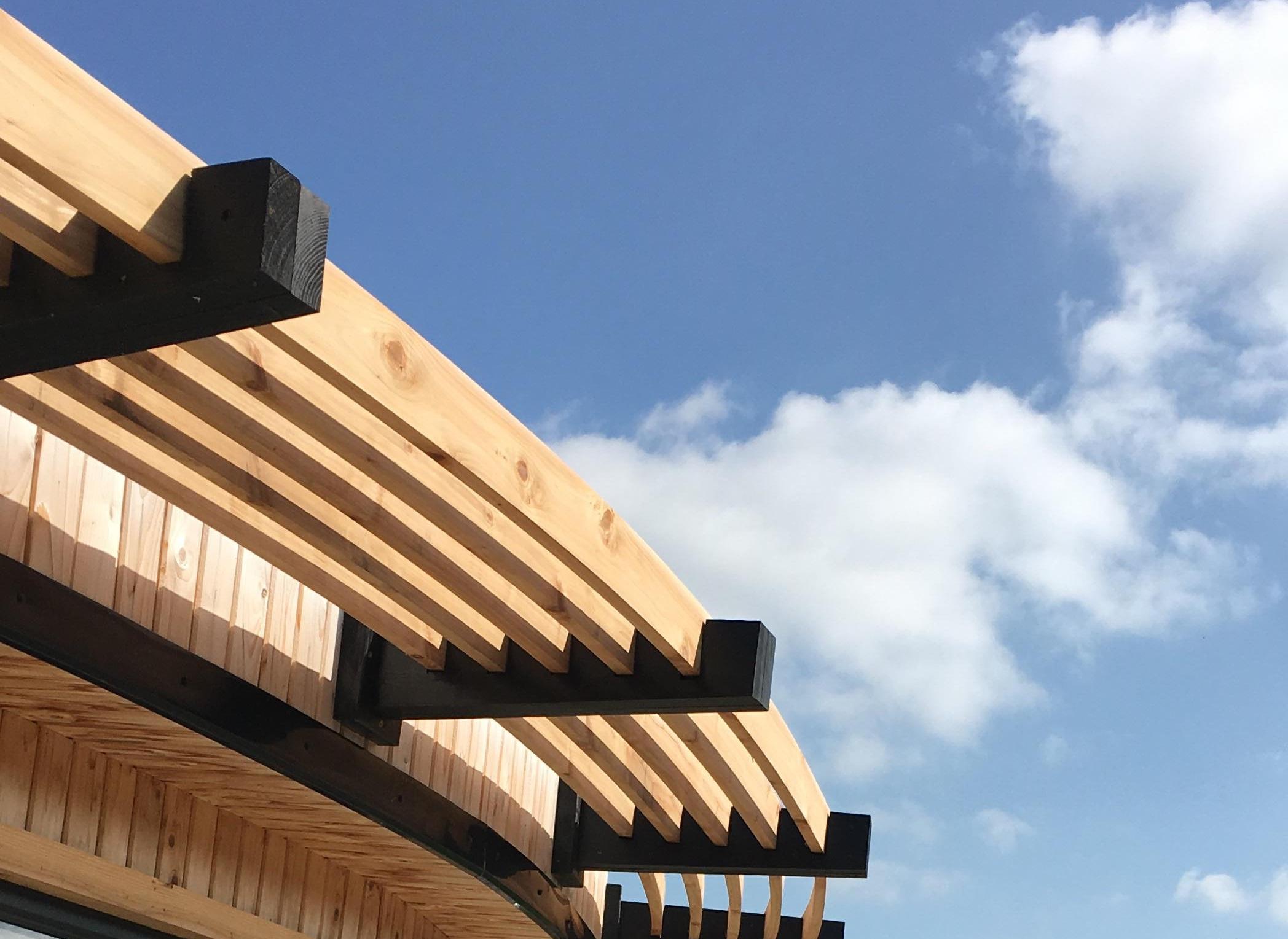 timber awning
