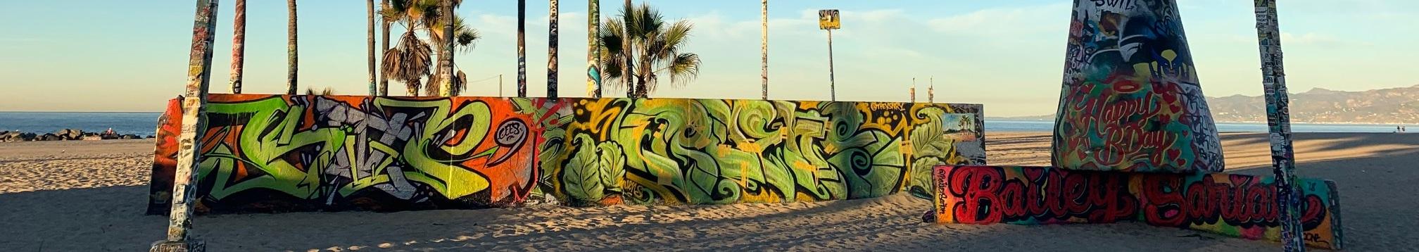 Venice graffiti walls