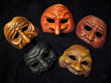 Example of Various Types of Masks
