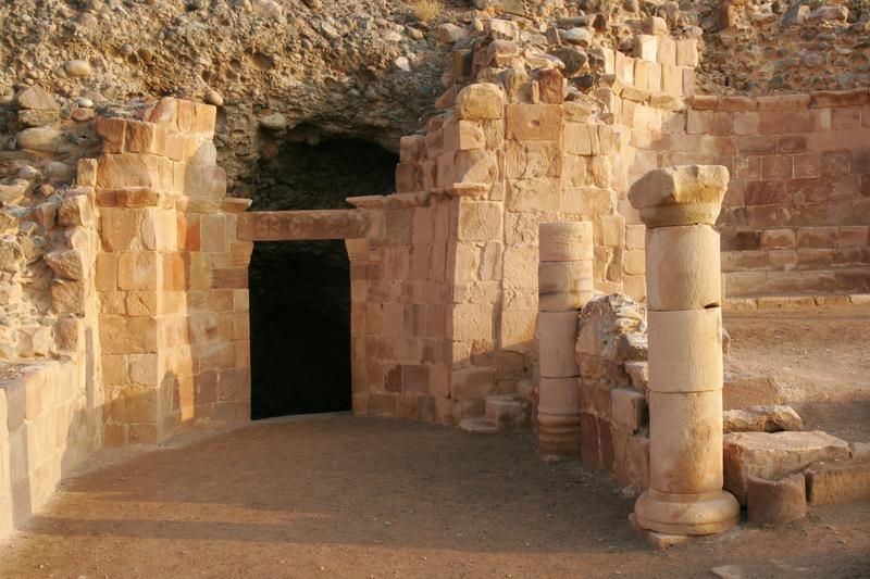 Lot's Cave near the Dead Sea,