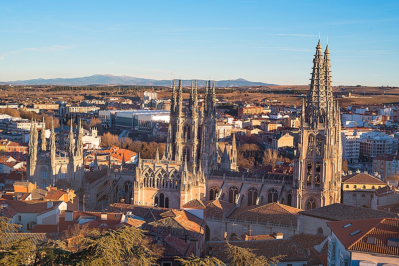 Burgos Cathedral and City Panorama