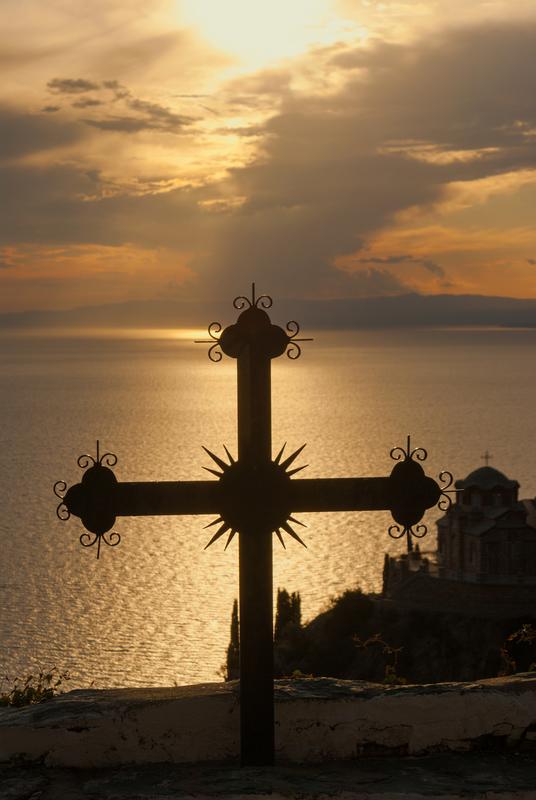 Sunset on Mount Athos