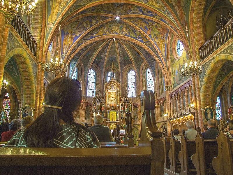 Interior of Our Lady of Gietrzwald Basilica