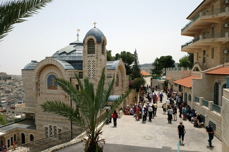 Pilgrims at Church of St. Peter Gallicatu
