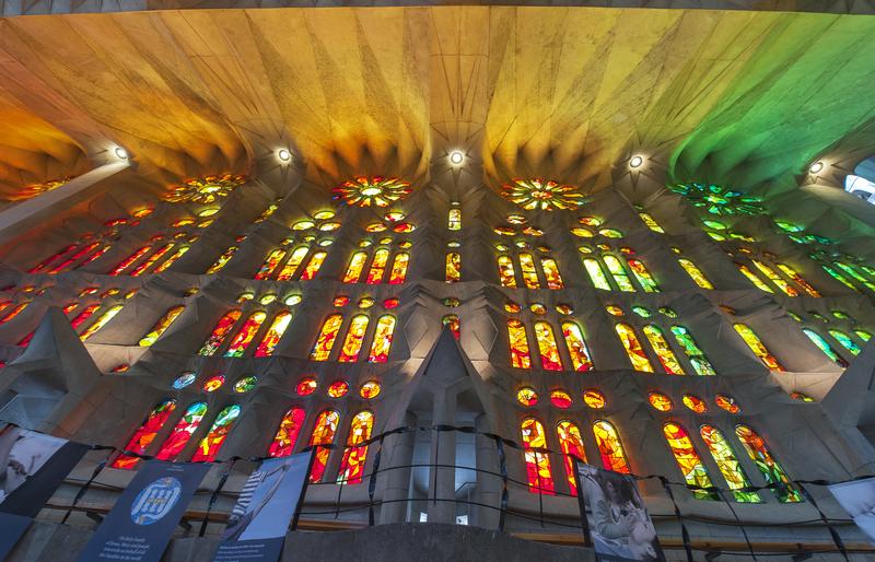 Interior of The Sagrada Familia Basilica