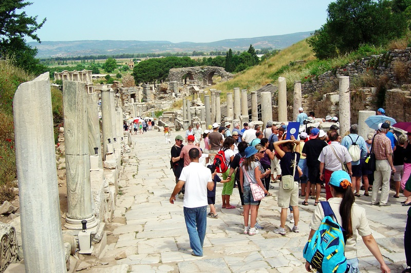 Visitors Exploring Ephesus