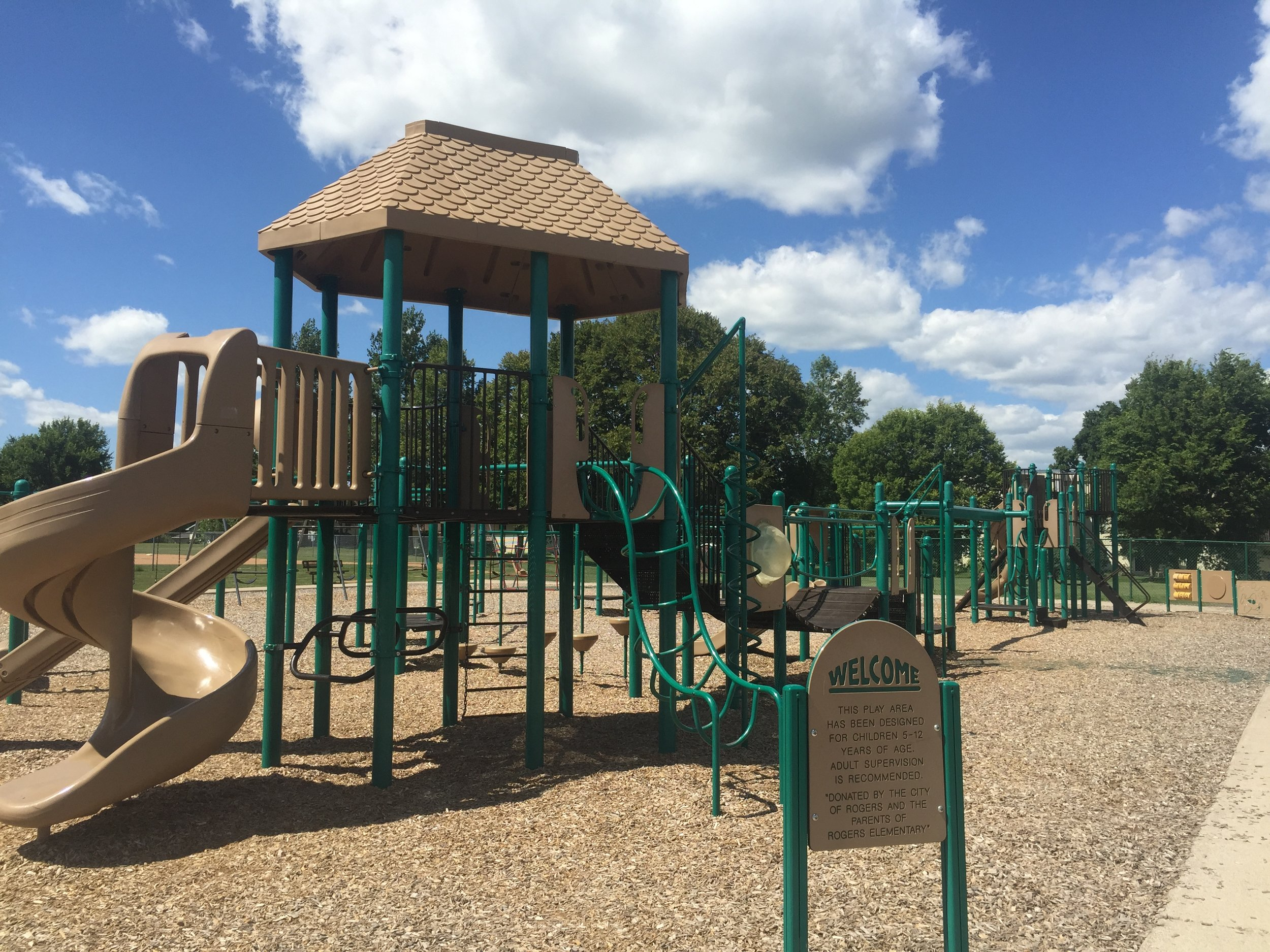 Picture of playground at Rogers Elementary School