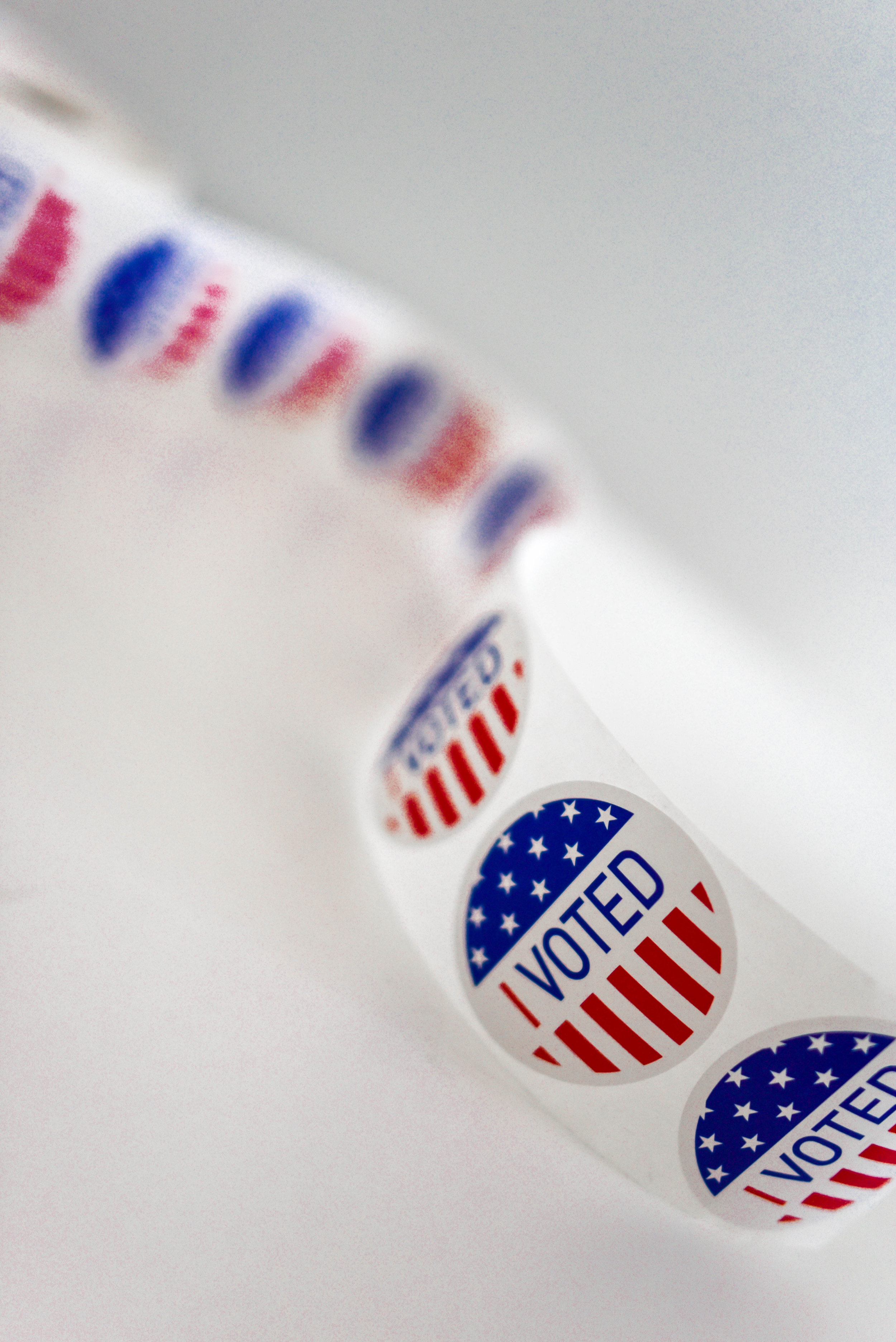 Picture of voting stickers