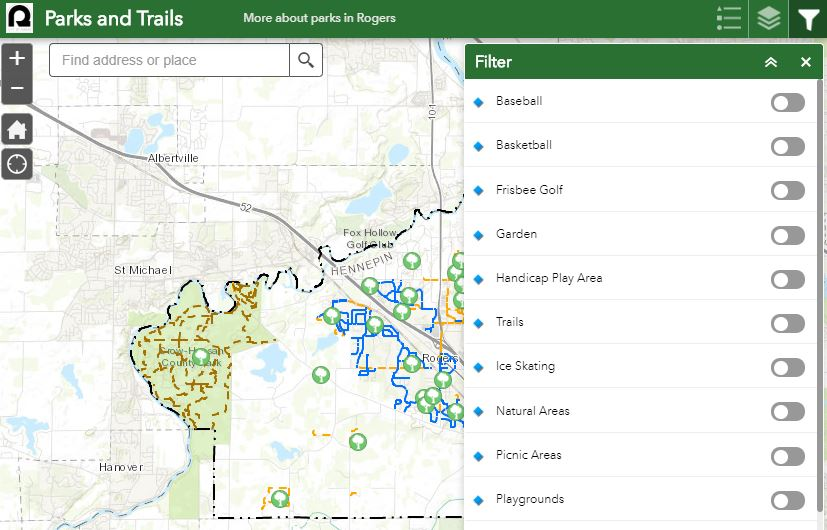 Parks and Trails Map - Find a local park by address, amenities and more!