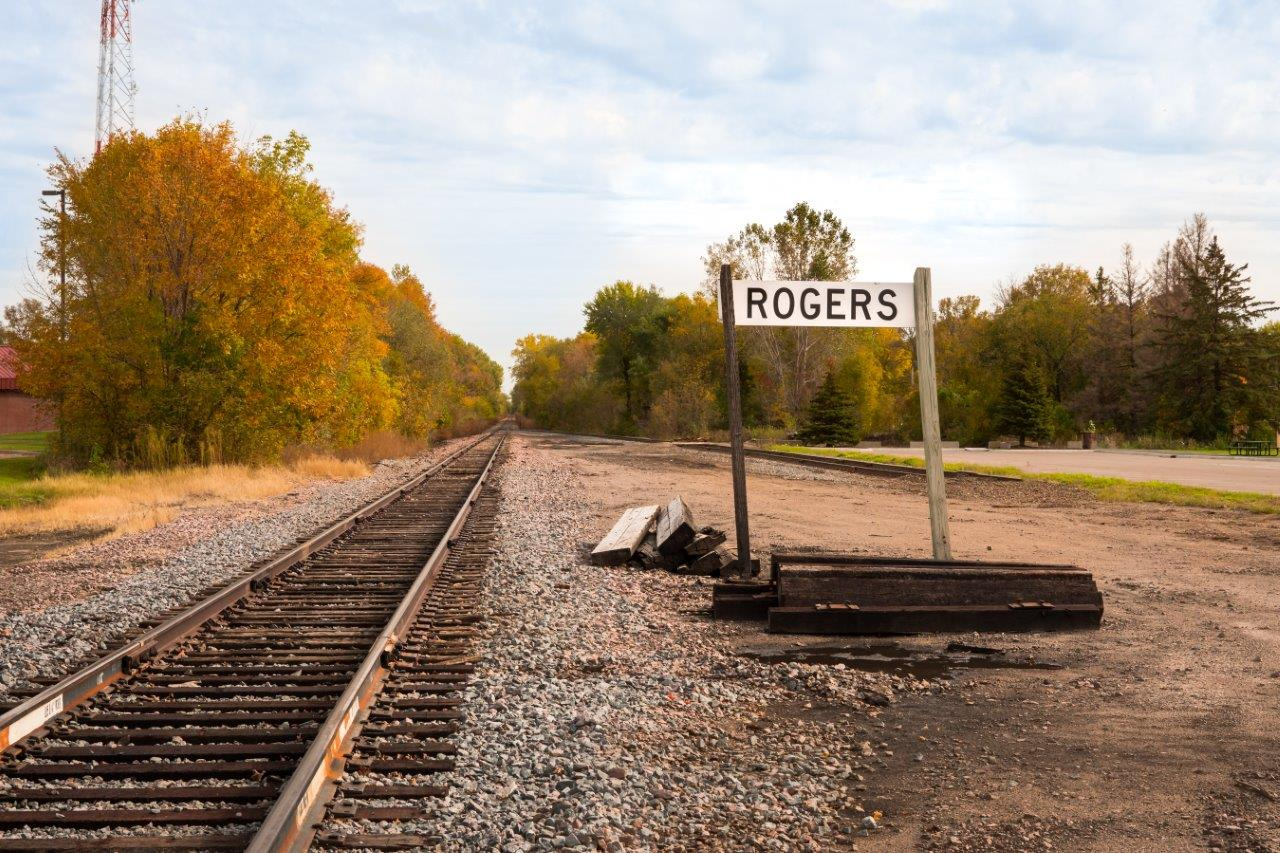 Picture of the railroad in Rogers, MN