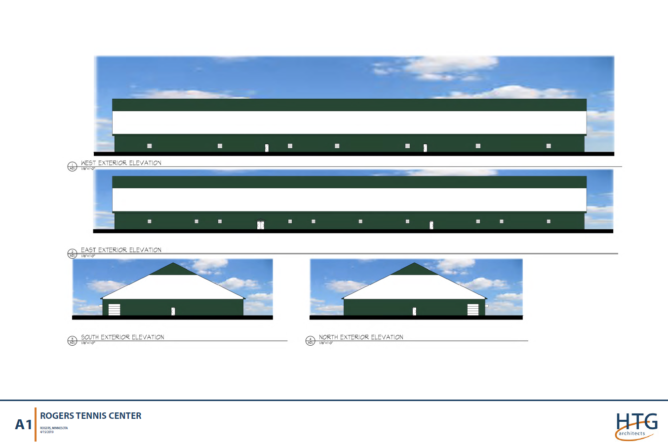 Picture of exterior design for Rogers Tennis Club