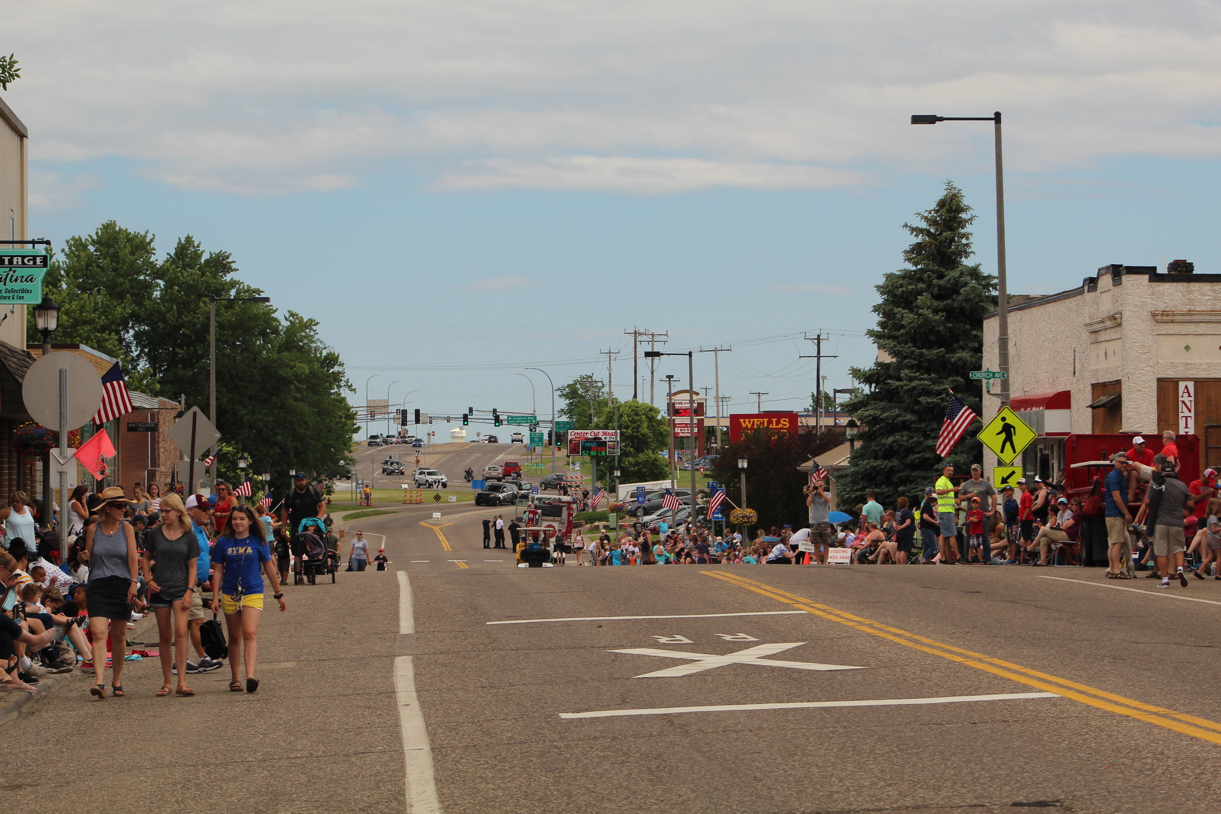 the downtown area consists of long-standing restaurants, businesses, and the Rogers senior center. It is known for its historic value and central location within the city. The annual parade runs down Main Street through Downtown Rogers. - Downtown Rogers