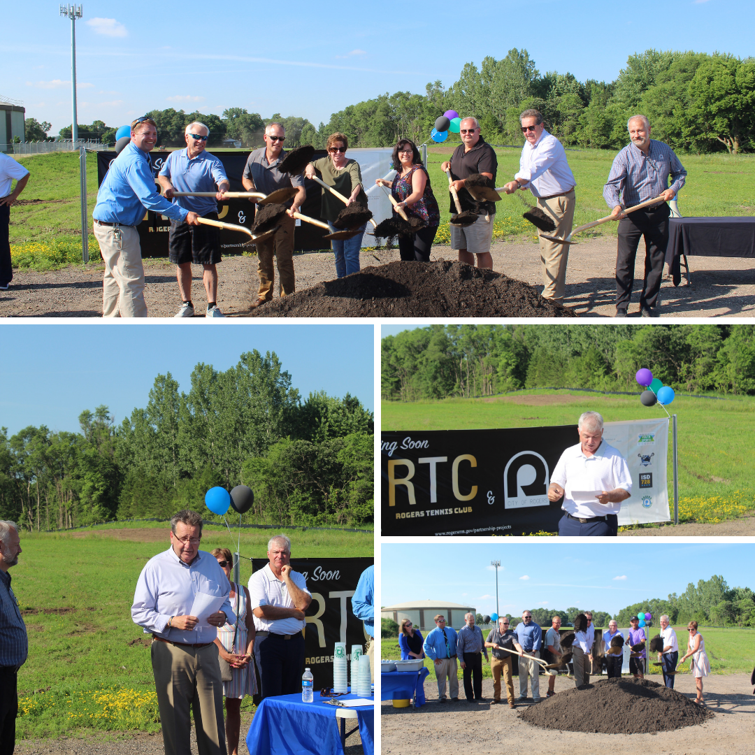 Pictures from the Rogers Tennis Club/Reservoir Fields Groundbreaking