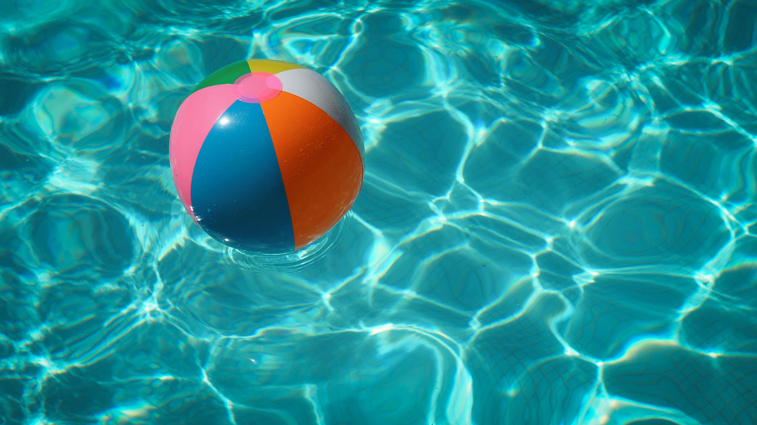 Picture of beach ball in pool