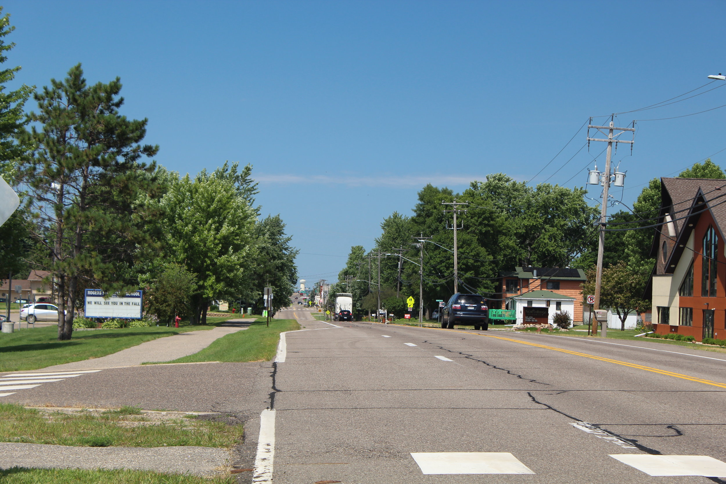 Picture of Main Street in Rogers, Minnesota.
