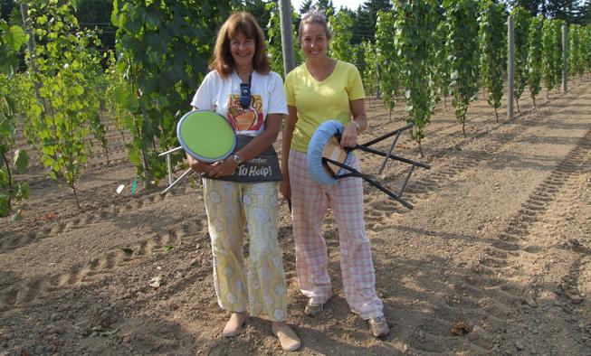 Marilyn & Michelle in the Vineyard at Venturi Schuzle