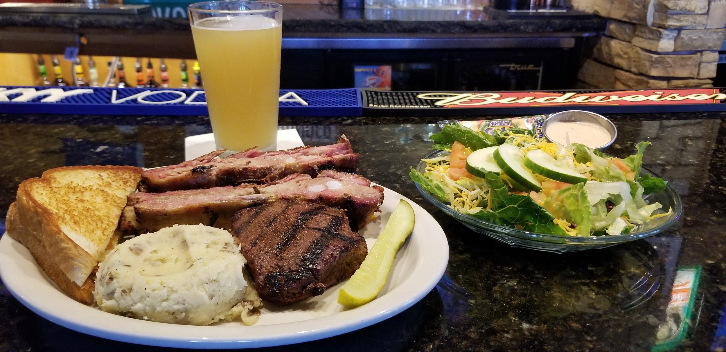 Rib & Steak Dinner