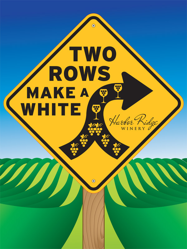 Two Rows Make a White Poster