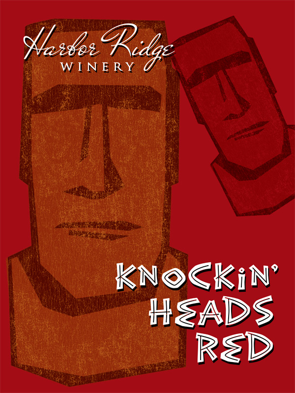 Knockin' Heads Red Poster