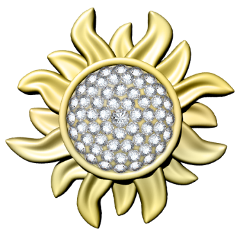 Rise and Shine Sun Vector - Jeweled transparent-346x340.png
