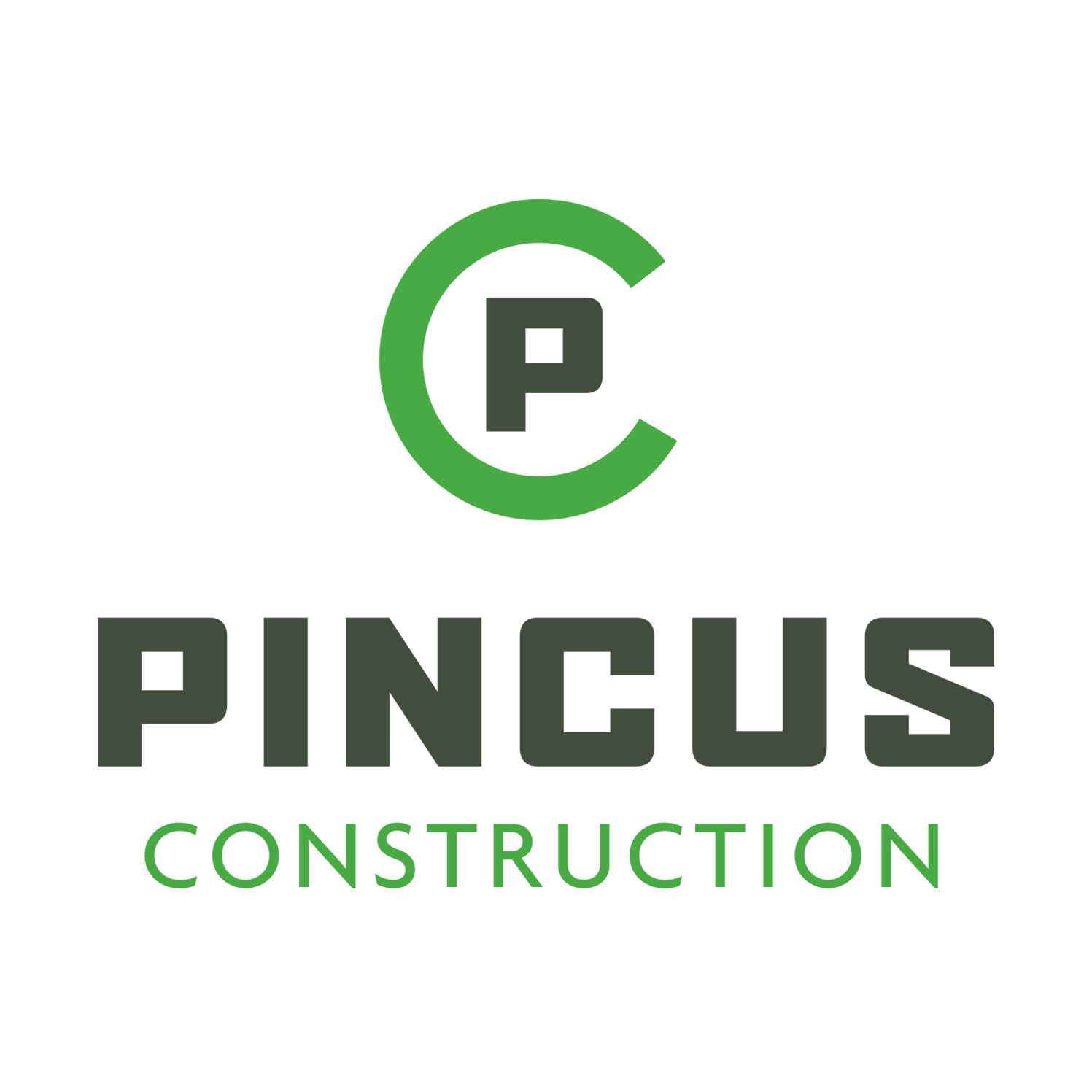Pincus Construction Logo Design