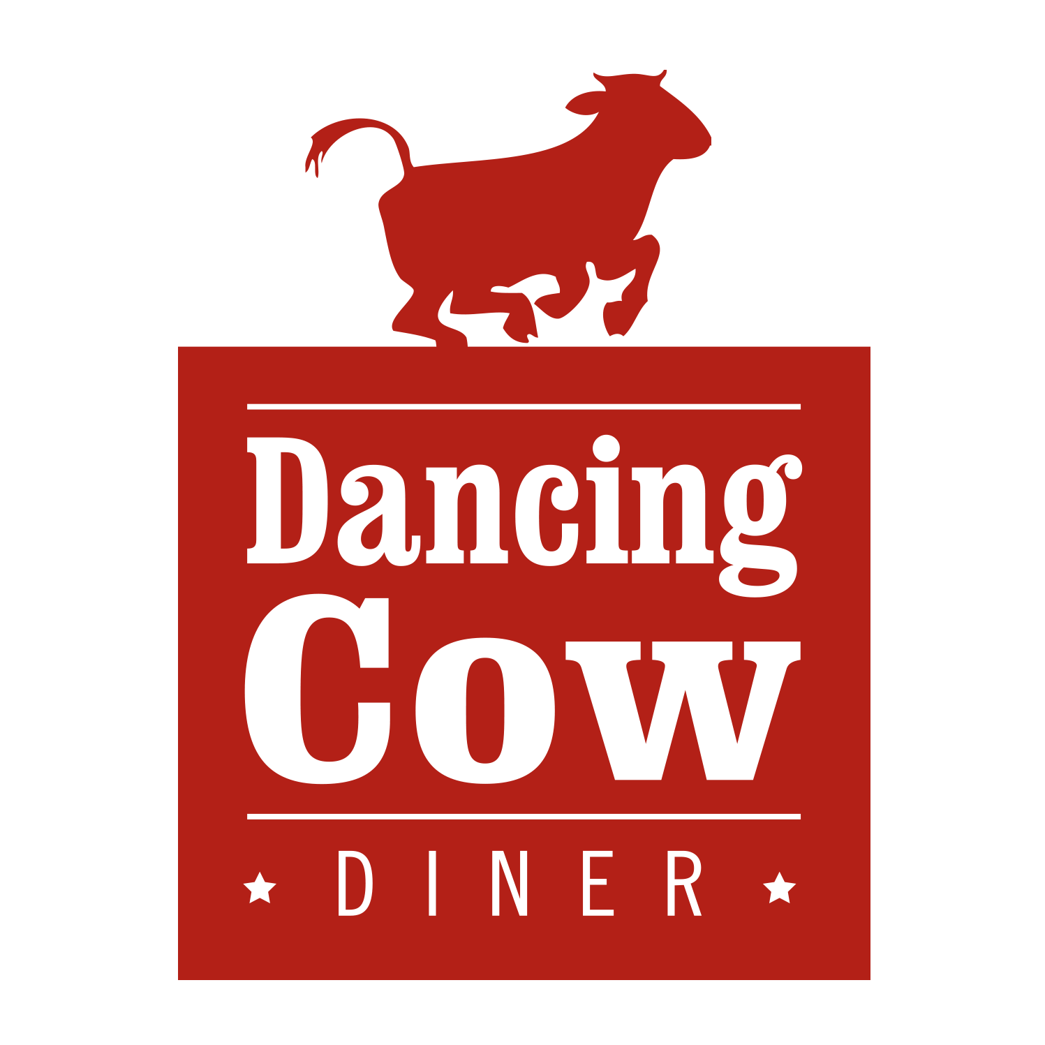 Dancing Cow Diner Logo Design
