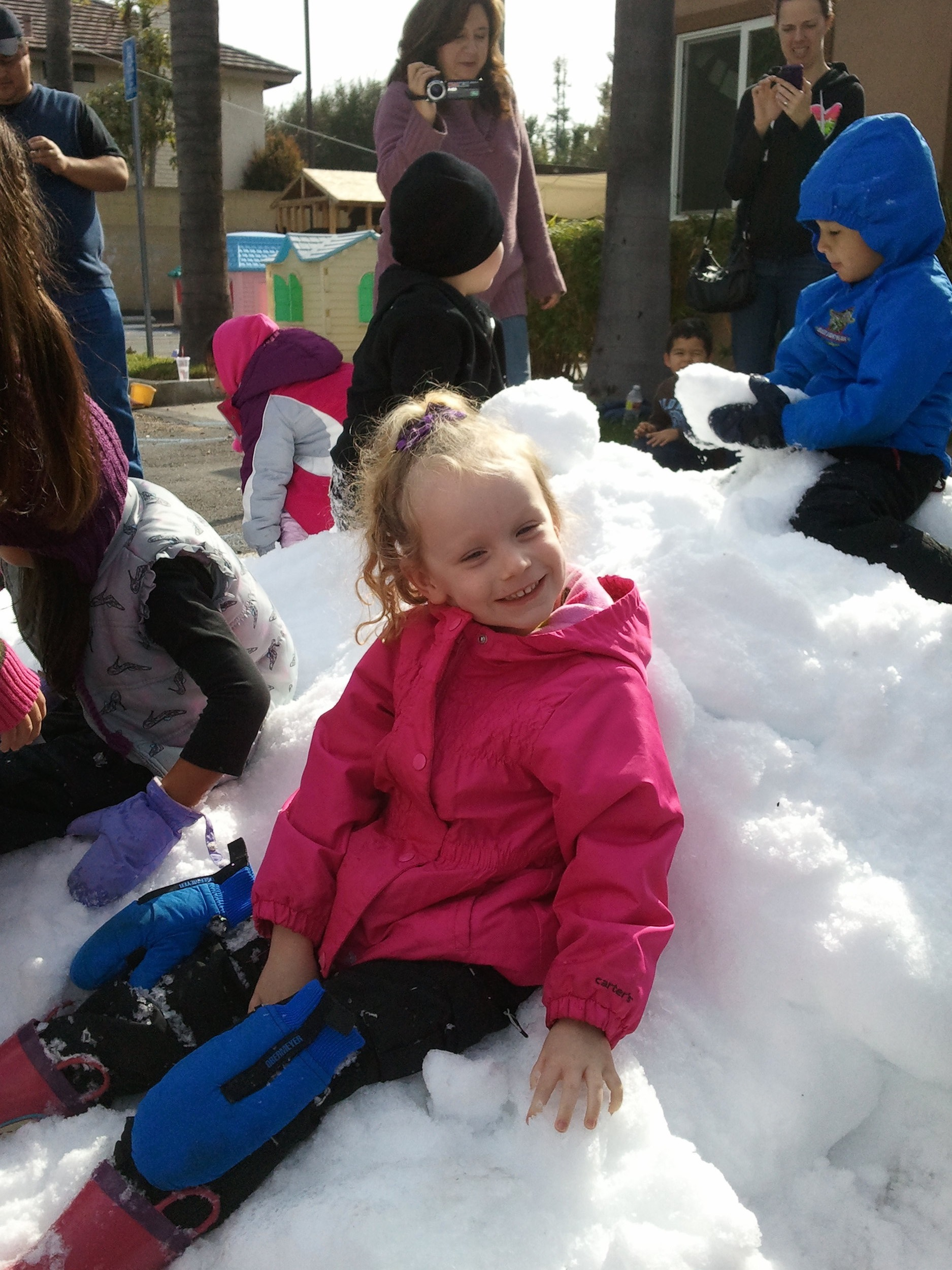 We also had our annual fun snow day!! The children love it when the snow truck brings tons of that cold white fluffy stuff to the playground!
