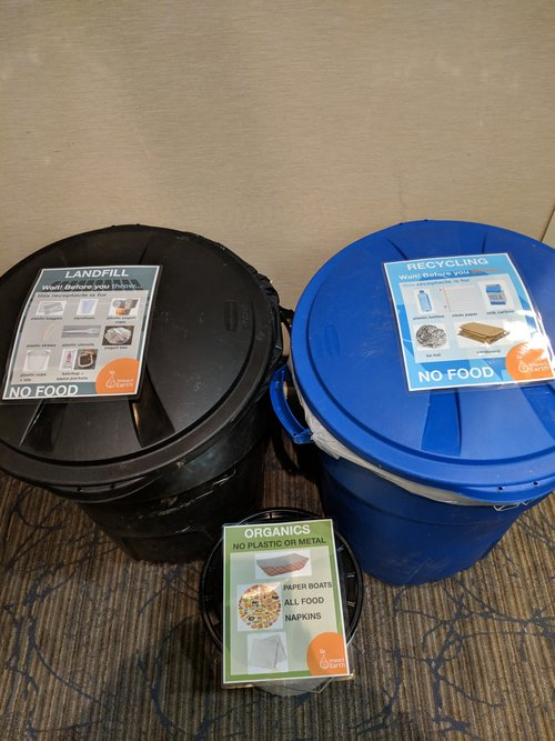 An Impact Earth Waste Station at a recent event. Click here to learn more about our    zero waste events   .