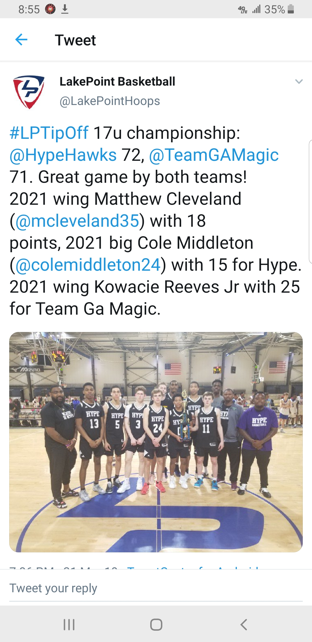 HYPE NEWS — #TeamHYPEBasketball