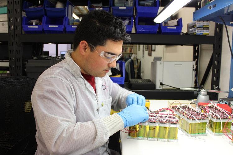 High Power Nano Satellite Battery Assembly