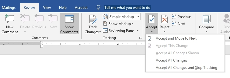 Word - Track Changes