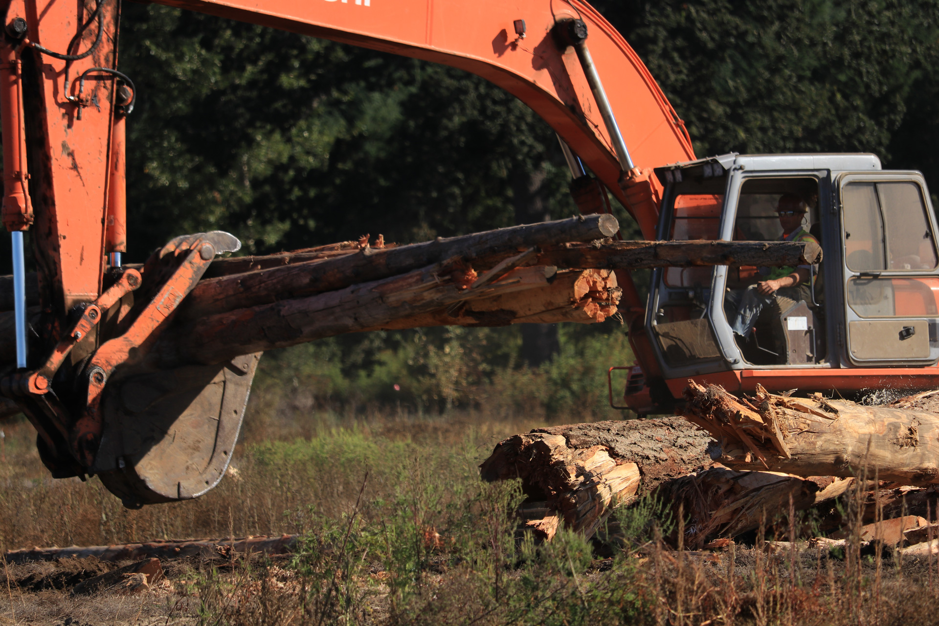 Heavy equipment will be placing large woody debris in the floodplain restoration area between September 3rd and October 15th.