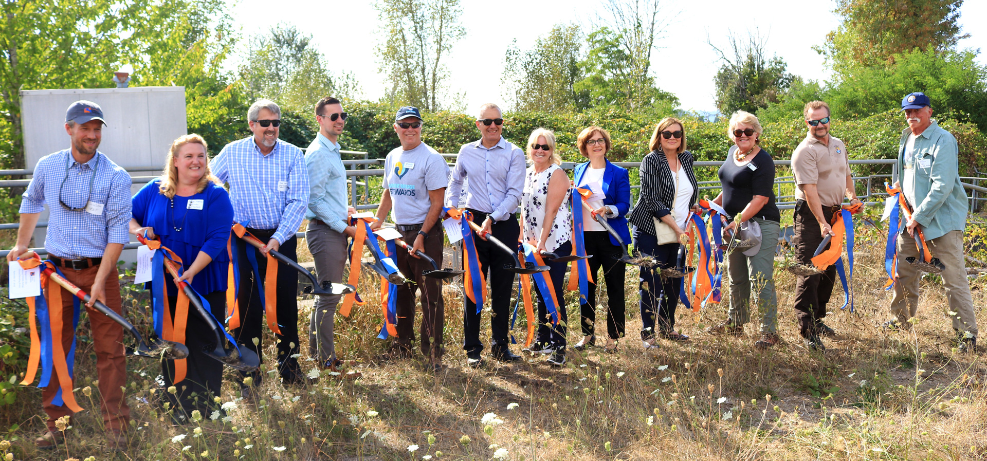 Project partners and supporters from throughout Washington and Oregon came together to break ground on the Steigerwald Floodplain Restoration Project on Thursday, September 5th.