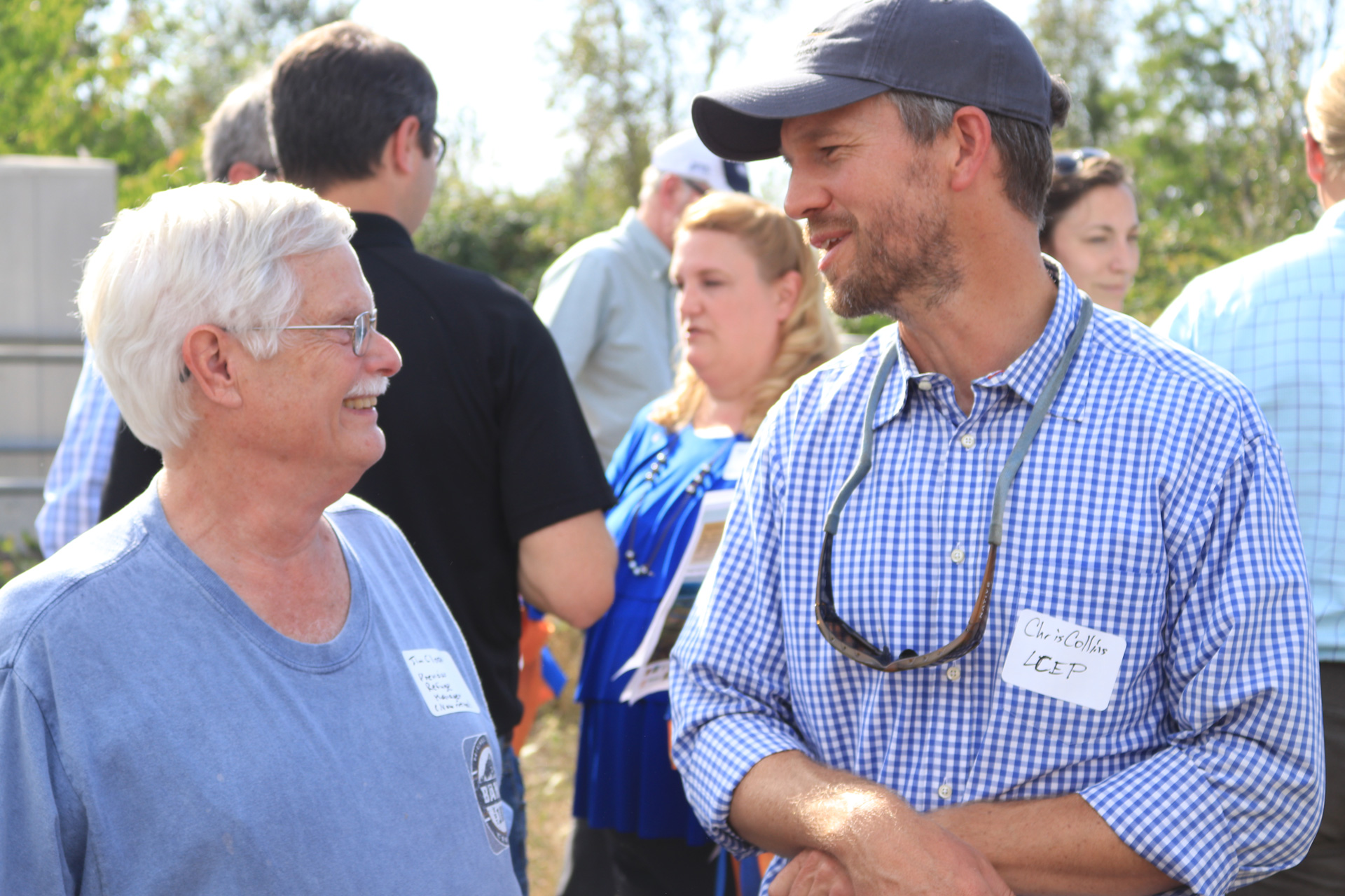 Former Steigerwald Lake Refuge Manager, Jim Clapp (left) was on hand for the groundbreaking of this 5+ year planning effort.