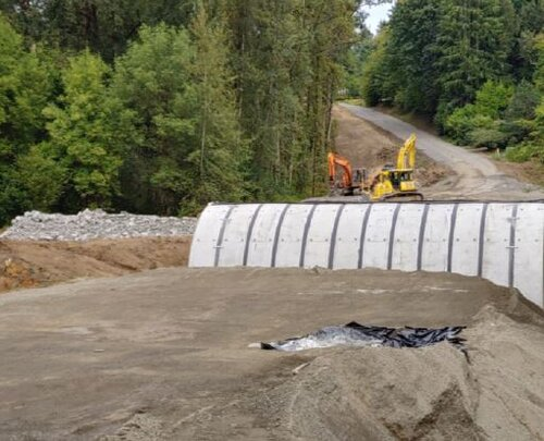 Looking North at the culvert with Main Avenue behind.