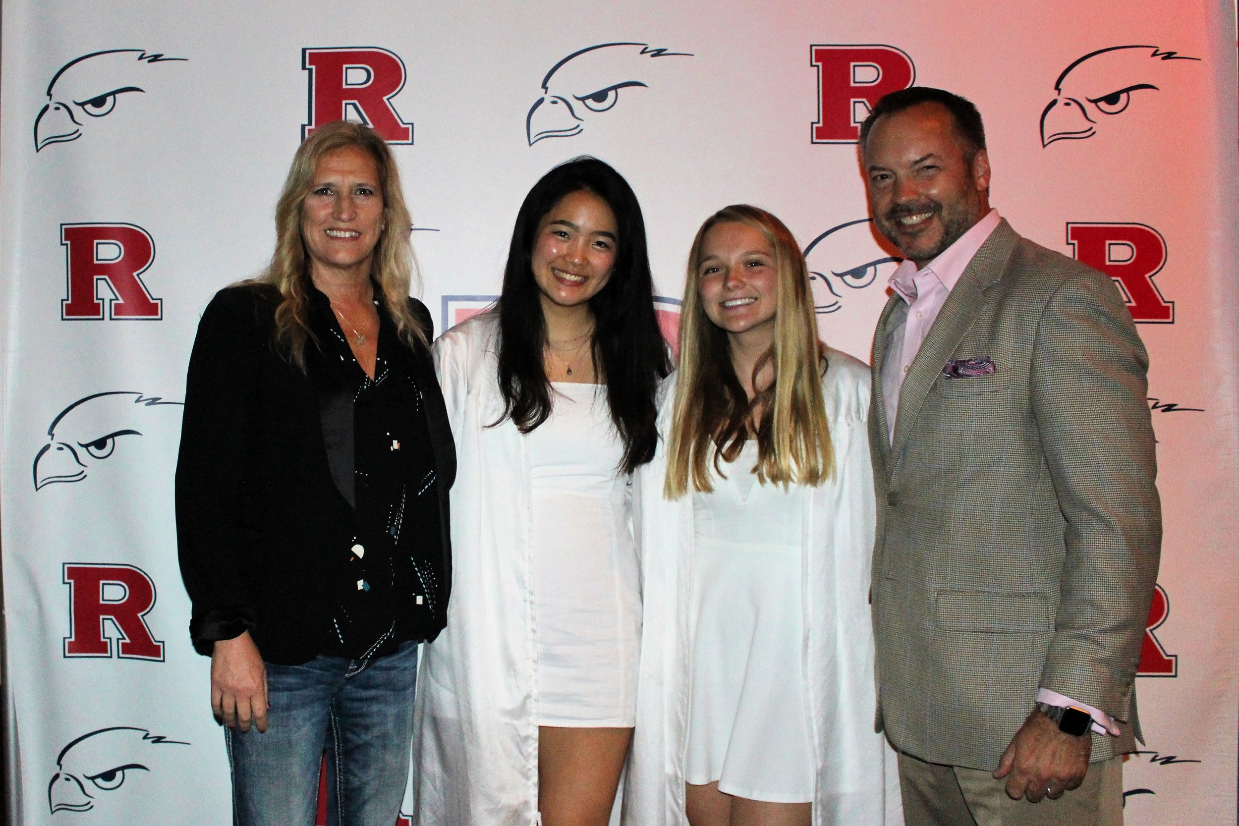 Redondo Union High School scholarship winners for 2019 are (L-R) Tiffany Yin, second from left and Ryan Cartee, second from right. Also pictured are (L) Karen Nowicki and (R) Ryan Nowicki.