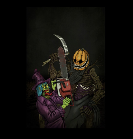 Punkie Vs Seattle Crypticon 2015  Print Sold at Threadless.com