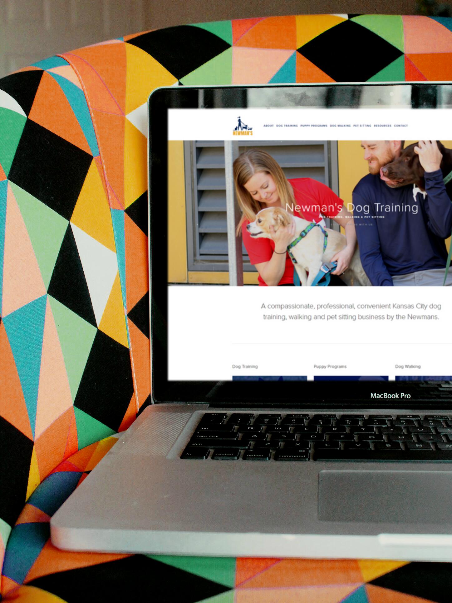 Web Design For Newman S Dog Training Steph Rupp Llc Kc Freelance Web Design And Photography