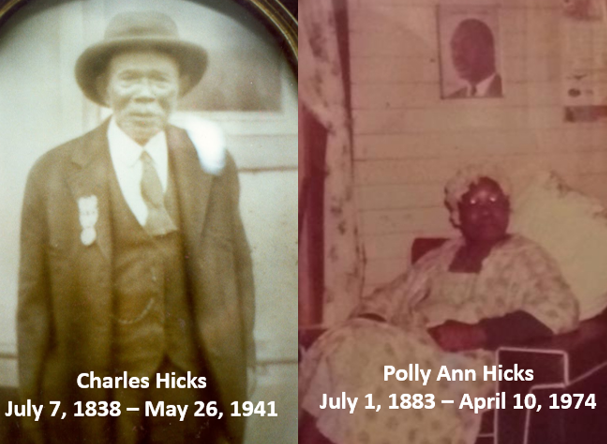 Meet Charles and Polly Ann Hicks - Charles Page was born a slave in Johnson County, Georgia, in 1838. He served in both Armies (Union/Confederate) during the Civil war.Polly Ann was a prominent mid-wife.Learn More