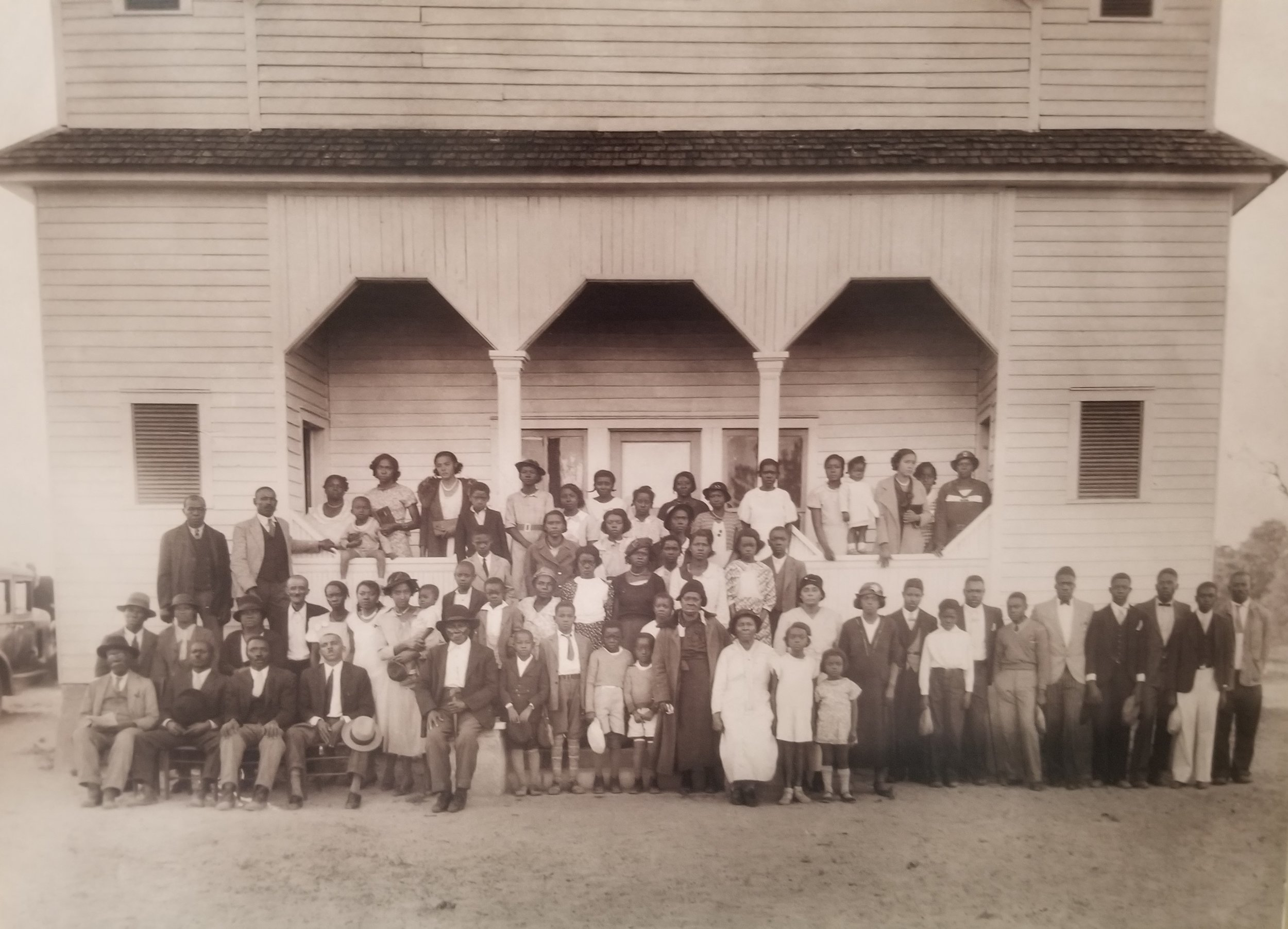 The original congregation/student body of Jordan Stream Baptist church and first colored school in the early 1030's.