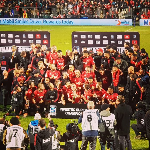 Crusader 3-peat! Great win team.  #crusaders #superrugby #canterbury #winners #champions #nzrugby