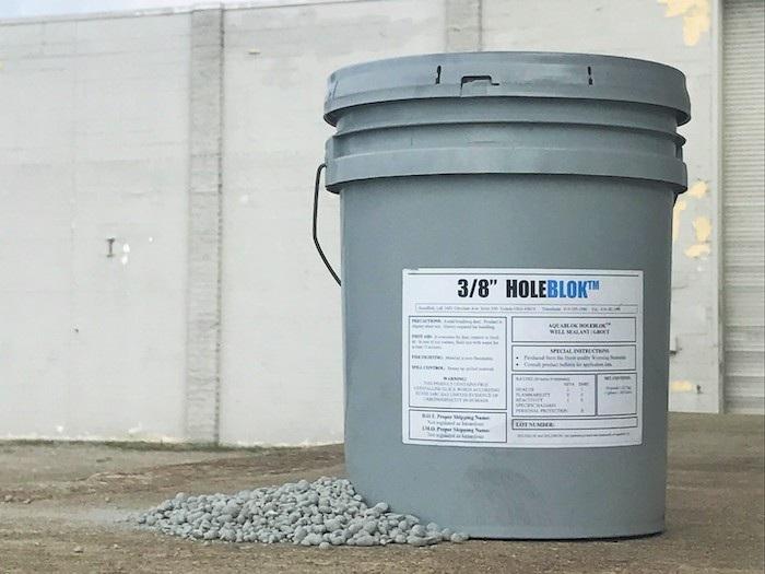 HoleBlok in 50lb plastic pail