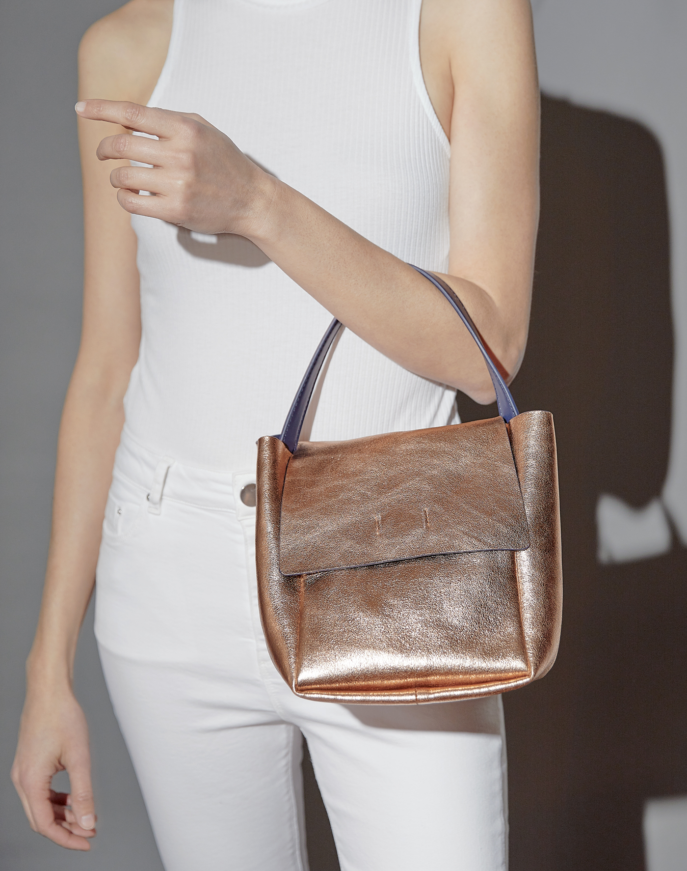 Maui Satchel in Rose Gold, $115. Photography by s Deux Lux team.