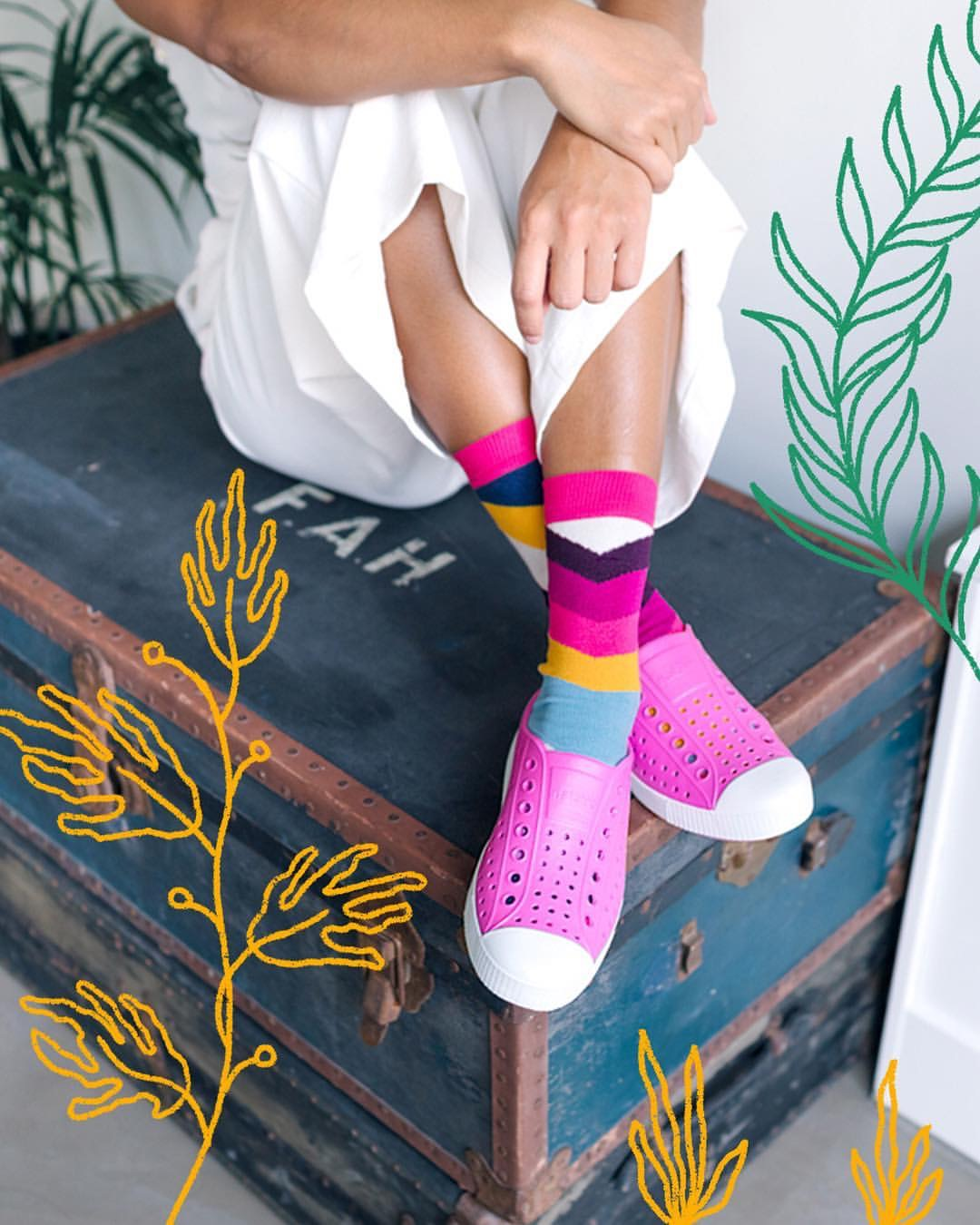 """Native Shoes has """"The Remix Project"""" with a goal by 2023 for each and every pair of Native shoes will be %100 life cycle managed. Native Shoes has partnered with  Zappos for Good  where you can return your Native Shoes for free."""